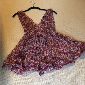 Cecico Sheer Red Mini Dress
